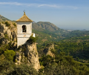 Bell Tower of Guadalest, Costa Blanca, Spain. CC photo by Anguskirk.